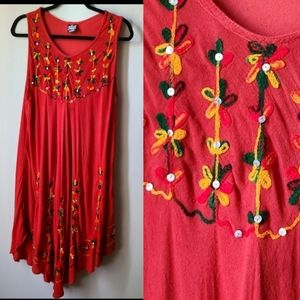 2 for $22 | Plus Size Floral Embroidered Dress